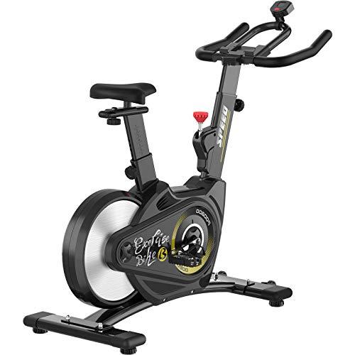pooboo Magnetic Resistance Belt Drive Bike Exercise Bike Stationary Bike Indoor Cycling Bike with Heavy-Duty Rear Flywheel(A1) (S1)