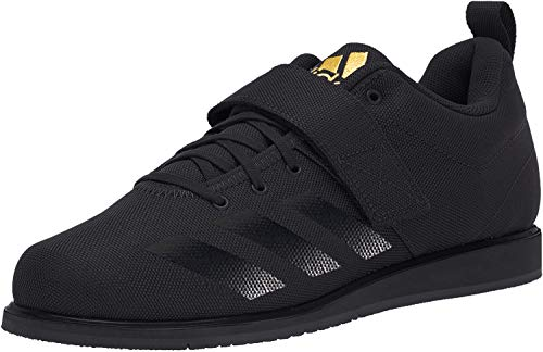 adidas Male Powerlift 4 Shoes Black/Solar Gold-4.5