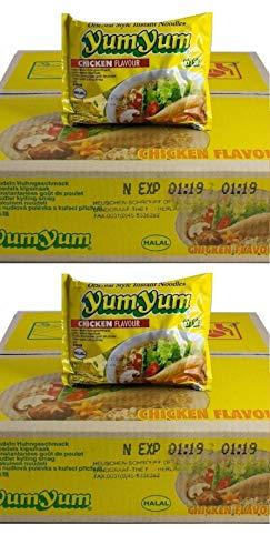 Pamai Pai® Doppelpack: 2 Kartons YumYum Huhn Instant Nudelsuppen 60 x 60g Yum Yum Chicken