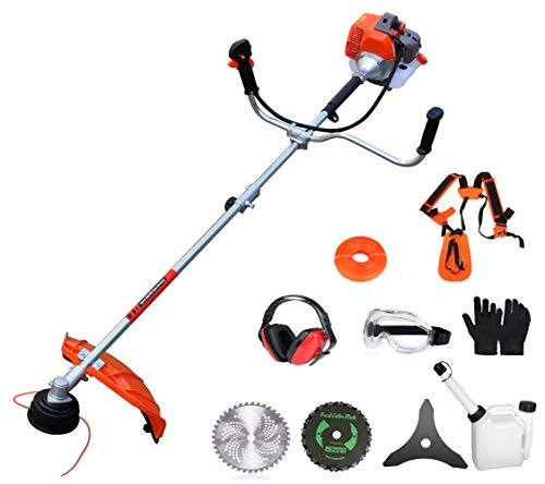 PROYAMA 42.7cc 2 in 1 Extreme Duty 2-Cycle Gas Dual Line Trimmer and Brush Cutter, Grass Trimmer, Weed Eater