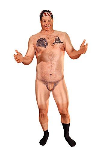 Morphsuits MLFRCHM - Realistische Zensiert Nackt HillBilly Morphsuit Erwachsene Kostüme Medium 5 Zoll - 5 Zoll 4, 150 cm - 165 cm, M, Multi
