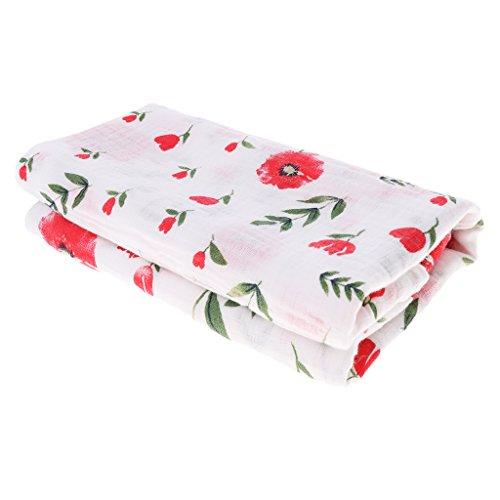 Pañales Suave Manta de Algodón Toalla Juguetes Educativos Decoración Casera de Bebé - flor de cerezo, Ajustable