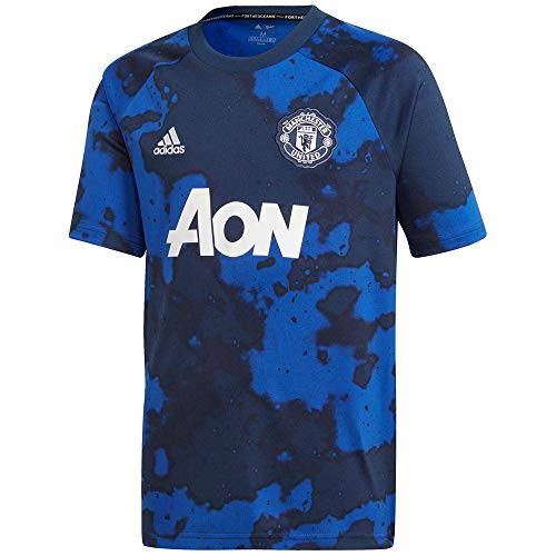 adidas Kid's Manchester United Prematch Jersey 2019-20 (Small) Mystery Ink/Collegiate Navy