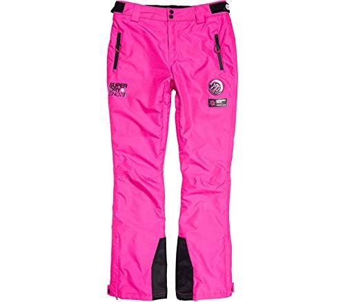 Superdry Femme Pantalon de Ski SD Rose Lumineux Poussière 38
