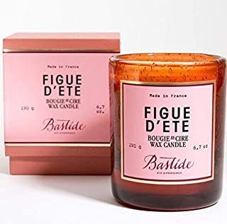Bastide Figue D'Ete Fig Scented Candle in Hand Blown Glass Jar — (6.7 oz / 190g) Made in France