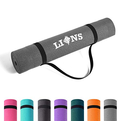 Lions Yoga Mat with Carry Straps - Multi Purpose Eco Friendly Mats | 6MM...
