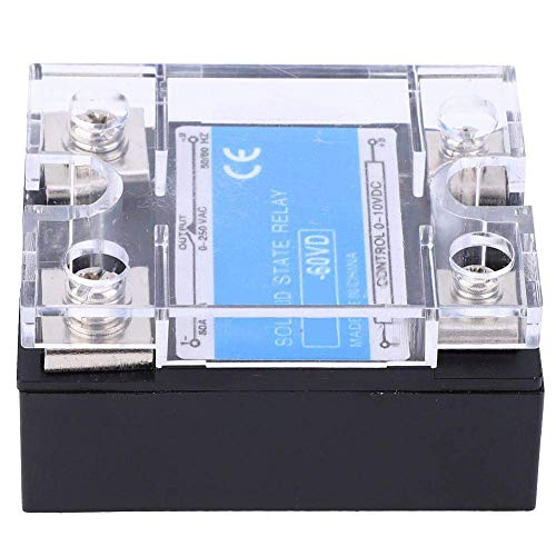 Guadang Solid State Relay,Control 0-10VDC Load 0-250VAC Single Phase DC-AC Solid State Relay, with High- Optocoupler,Computer Peripheral Interface Equipment,Berm,(60VD)