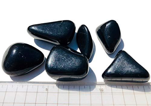 200g Schungit Trommelsteine Wassersteine 4-6cm Heilstein Schmeichler Schungite EMF Schutzplatte EMF Strahlung Schutz