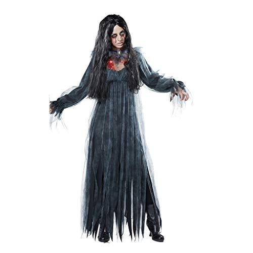 FRAUIT Halloween Costume Donna Sposa Cadavere Vampira Donna Strega Costume Carnevale Cosplay Sposa Carnevale Travestimento Abito da Spettacolo Abiti Ragazza Eleganti da Cerimonia in Tulle Vestito