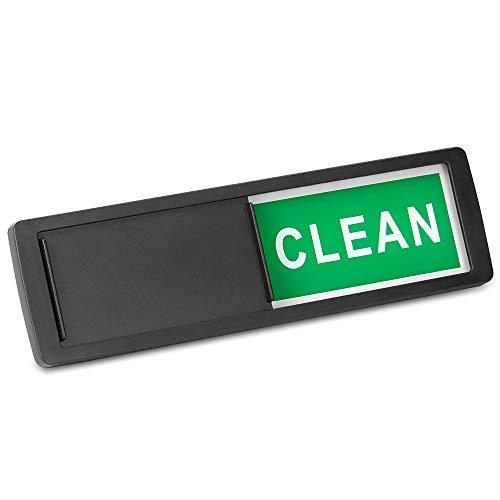 Spülmaschine sauber / schmutzig Zeichen | Magnet- oder Haftanzeiger | Spülmaschine Erinnerung | Verwirrung beseitigen | Pukkr (Schwarz)