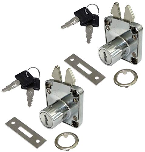 AERZETIX: 2X Cerraduras y Llaves para Puerta corredera de Mueble 40/40mm C41401