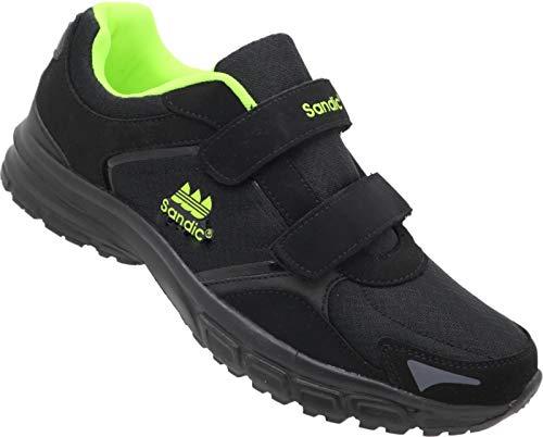 Herren Sportschuhe Sneaker Turnschuhe Schuhe Übergröße Nr.1344 (schwarz-Lime, Numeric_49)