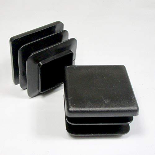 ajile - 4 pièces - Embout à lamelles carré pour tubes 40 x 40 mm - NOIR