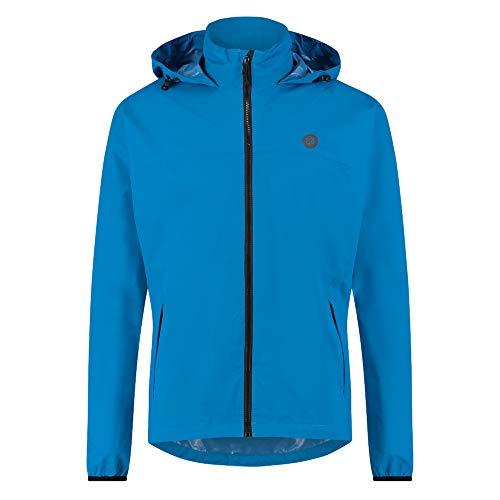 AGU GO Essential Regenjacke Damen & Herren, Fahrradjacke Wasserdicht & Winddicht, Atmungsaktiv, Reflektierend, Unisex, XXXL, Blue