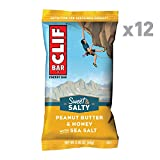 CLIF BAR - Sweet & Salty Energy Bars - Peanut Butter & Honey with Sea Salt - (2.4 Ounce Protein Bars, 12 Count) (Packaging May Vary)
