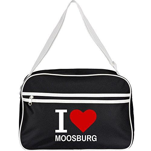 Retrotasche Classic I Love Moosburg schwarz