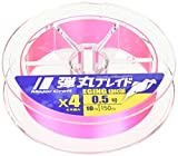メジャークラフト PEライン 弾丸ブレイド 4本編み エギング DBE4-150/0.8PK ピンク 150M/0.8号