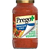 Prego+ Hidden Super Veggies Italian Tomato Sauce with Roasted Garlic and Herb, 24 Ounce Jar (Pack of...