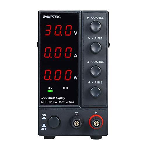 WANPTEK NPS3010W 0-30V 0-10A Fuente de alimentación de CC de conmutación Pantalla de 3 dígitos LED de alta precisión ajustable AC 115V / 230V 50 / 60Hz Voltaje y corriente Salida dual regulada