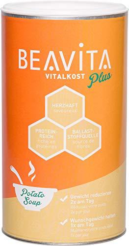 BEAVITA Vitalkost Plus - 500g Kartoffelsuppe - Diät Suppe für unbeschwertes Abnehmen - reicht für 10 Suppen - nährstoffreicher Mahlzeitersatz - Kalorien sparen & Gewicht reduzieren - mit Dosierlöffel