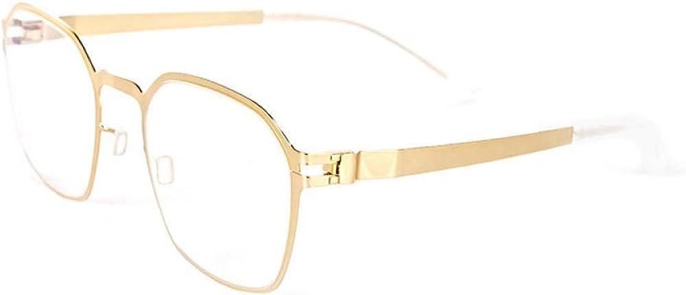Alliage simple hommes et femmes lunettes de soleil multicolore mode monture lunettes lunettes décoratives Golden