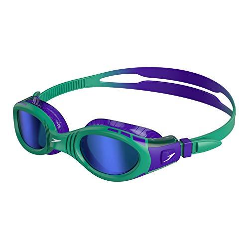 Speedo Kinder Futura Biofuse Flexiseal Mirror Junior Schwimmbrille, Lila/Grun/Blau, Einheitsgröße