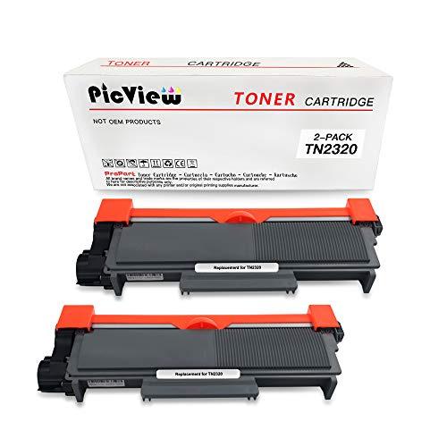 PicView TN2320 TN2310 Compatibel voor Brother Toner Cartridges gebruik voor MFC-L2700DW HL-L2340DW HL-L2360DN HL-L2300D DCP-L2500D DCP-L2520DW HL-L2365DW MFC-L2720DW (2 zwart)