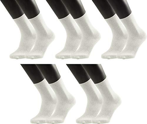 world wide sox Socken Rippe aus Baumwolle für Herren & Damen, feine Maschen, Alltagssocken | weiß | 39-42 | 5 Paar