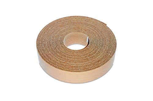 22mm Echt Gedämpfte Buche, Eisen-On Kantenanpassung – Hohe Qualität 7,5m Rolle – Vorgeklebt Holzfurnierband für die Einfache DIY-Anwendung – Bedeckt den Rand eines Standard-MDF-Panels