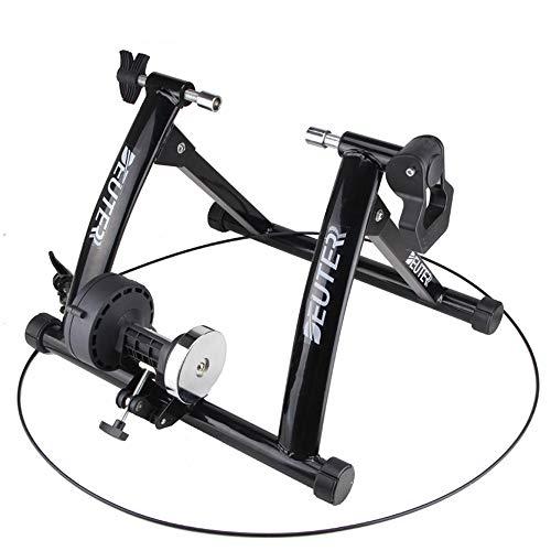 HUATXING Ciclismo Trainer Home Formazione Esercizio Indoor 26-28' Trainer Stazione Fitness Magnetico resistenze della Bicicletta Trainer Rulli,Nero