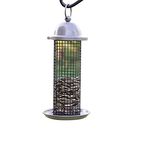 Mangeoire Mini Chargeur Avec Cintre Pour Les Oiseaux Sauvages Semences Darachide Feeder Feeder, Blends Grissinis, Anti-UV Peinture De Finition,Gris