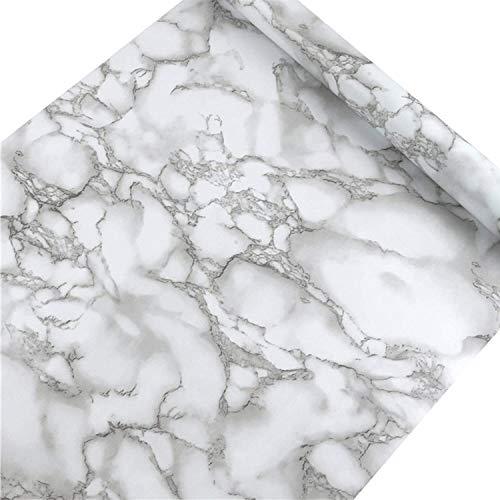 sknonr Imitation Marmory Tapete PVC Selbstklebende Küche Wandplatine Aufkleber Badezimmerschrank Tischplatte Wand Schutzpapier (Color : B, Size : 0.4mx5m)