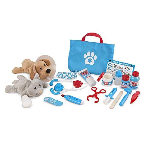 Melissa & Doug Examine & Treat Pet Vet Play Set | Pretend Play | Play Set | 3+ | Gift for Boy or Girl