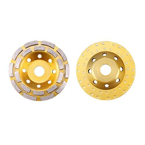 Muela Disco de corte de la taza de la rueda de la rueda de la rueda del cuenco de un segmento de diamante de 125 * 22mm para la máquina herramienta de herramientas giratorias de la rueda del ginding d
