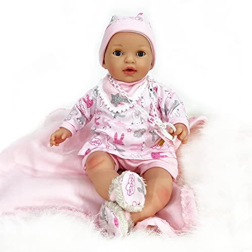 Nines Artesanals d'Onil 1039 MI BEBITO OPEN & CLOSE EYES Soft Doll, ROSA