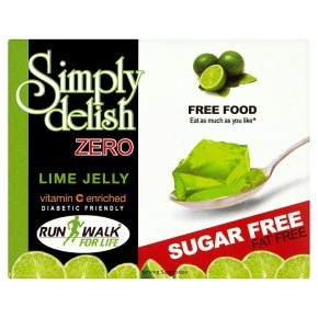Simply Delish, Sugar-Free Jelly Dessert - Vegan, Gluten and Fat-Free, Lime Flavour - Pack of 24, Keto Friendly Sweets