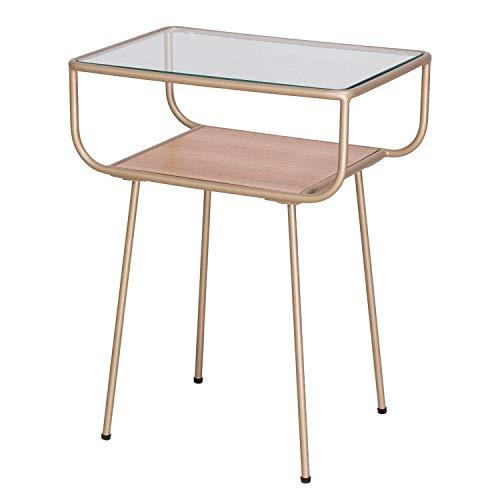Damiware Nino - Mesita de noche de diseño, mesa de cristal, mesa auxiliar, mesa de café, mesa de...