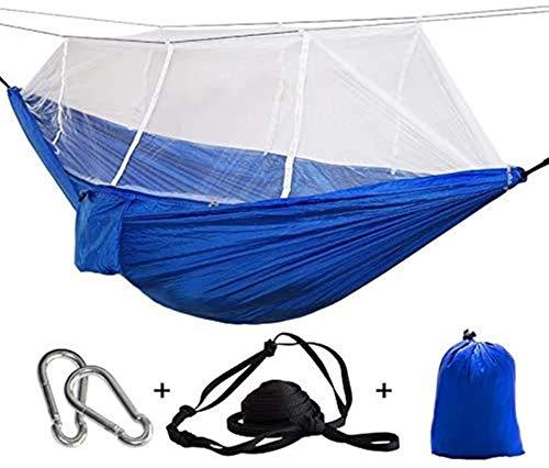 MCE Mosquitera de recreo al aire libre para acampar, cama colgante, silla doble, verde militar, 1 – 2 personas con cinturón de 3 metros, regalos para excursionistas (tamaño: P14)