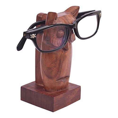 storeindya, Brillenhalter Handmade aus Holz mit Eule Form Brillenstander für Office-Deck Zubehör