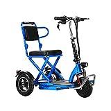 *YHXJ Escúters Discapacitats, Escúter Elèctric 3 Rodes, Assegurança I Còmode, Evita Bolcades, Apte per a Persones Majors, Discapacitades I Adults *35km