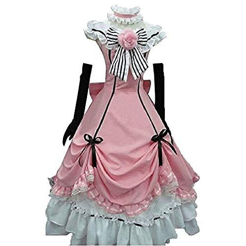 Sonoshitsuji Suikyo Kuroshitsuji Phantomhive Dress Cosplay Costume (Female L) Pink