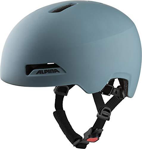 Alpina Unisex– Erwachsene HAARLEM Fahrradhelm, Dirt-Blue matt, 52-57 cm