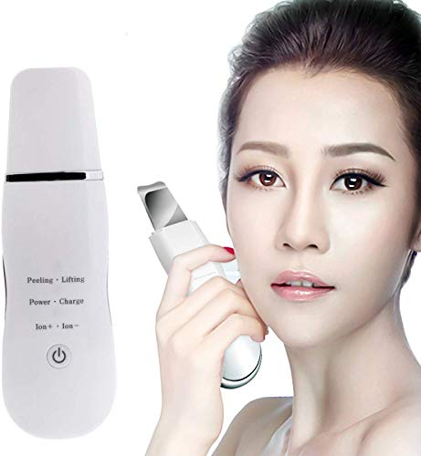 La Peau du Visage Scrubber comédons Pore Cleaner Blackhead acné Pores extracteur Peeling Outil Peau Massage Scrubber Spatule Charge USB
