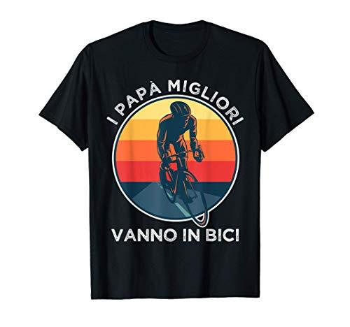 Uomo Papà Ciclista Ciclismo Divertente Bicicletta Maglietta