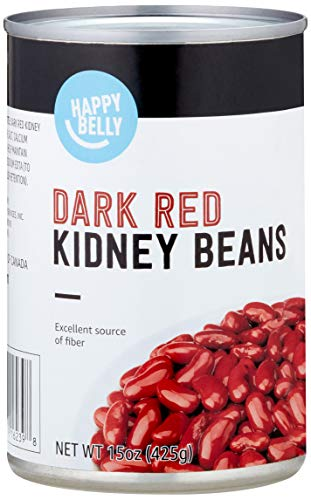Amazon Brand - Happy Belly Dark Red Kidney Beans, 15 Ounce