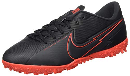Nike Unisex Jr. Vapor 13 Academy Tf Fußballschuhe, Black Black Dark Smoke Grey Chile Red, 36.5 EU