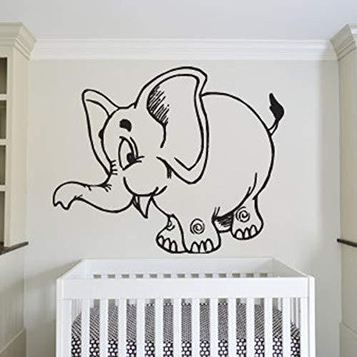 Elefante pegatinas de pared dormitorio de los niños guardería Animal lindo dibujos animados hogar calcomanía vinilo pared pegatina arte Mural lindo