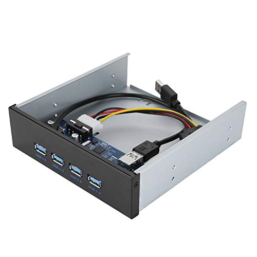 Bewinner Panel Frontal USB USB 3.0 4 Puertos CD ROM Controlador Hub...