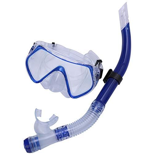 Cocosity Máscara de esnórquel para Adultos, Esnórquel Duradero Natación Buceo Gafas de Buceo para Adultos Gafas de Buceo, Máscara submarina Esnórquel bajo el Agua para bucear(Blue)