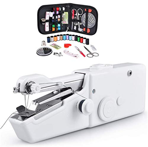 ROOYA BABY ハンドミシン ミニ 電動 ハンディ ミシン コンパクト 小型 携帯 軽量 裁縫道具 縫い物 簡易 ホッチキスミシン 手持ち式 乾電池式 家庭用 初心者 裁縫セットおまけ